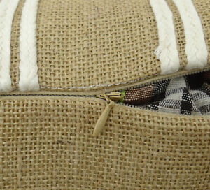 S4Sassy Decor Handcrafted Jute Cushion Cover Rustic Pillow Case-dpa