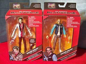 DC Multiverse Suicide Squad Joker Silver Jacket & Diablo Killer Croc Collect