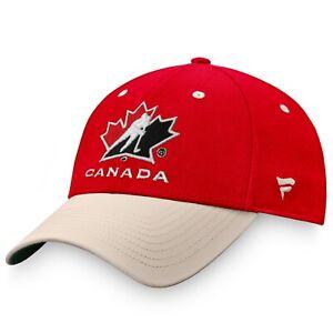Men's Red & White Team Hockey Canada True Classics Structured Stretch Fit Hat