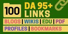 100 High DA SEO Backlink Service