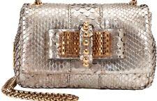Christian Louboutin sweet charity snake python silver bag  RRP£1500