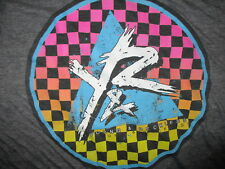 YOUNG RECKLESS T SHIRT Retro 80s SciFi Grid Geometric Prism Checkerboard Logo M