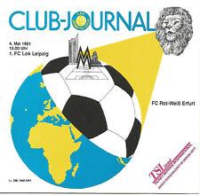 1.FC Lok Leipzig - FC Rot Weiß Erfurt   1990/91   Oberliga