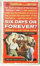 SIX DAYS OR FOREVER Ray Ginger SCOPES MONKEY TRIAL Evolution rare 1960 vintage P