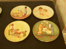 Norman Rockwell American Family Series 4-Plates 1979 New Collector