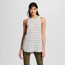 NWT WWW Women's Button Back White/Black Size XL Tank Top