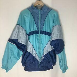 Vintage Retro Festival Colour Stripe WindBreaker Jacket ShellSuit