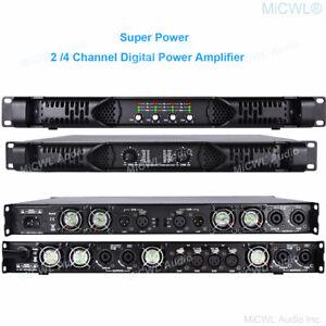 Digital Power Amplifier 2 Ch 5200W Speaker AMP 4 Ch 10k watt Bridging Function