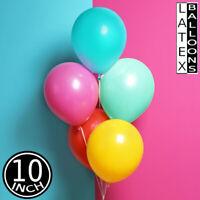 "10"" Medium-Large Latex Balloons Kids Children Ballons Goody Party Loot Baloon UK"