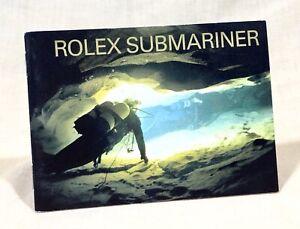 ROLEX SUBMARINER 2004 Booklet Spanish Español 16613 16618 16610 14060M 16600 /