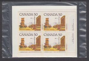 CANADA SEALED PLATE BLOCKS 723A PL2 CBN MEDIUM-VALUE ST. DEF., PRAIRIE ST. SCENE
