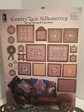 Country Lace Silhouettes Patterns for Net Darning Cross Stitch Rabbit Heart Star