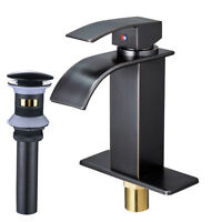 Oil Rubbed Bronze Bathroom Basin Faucet Single Handle Sink Vessel Mixer Tap