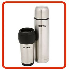 ❤ THERMOS Stainless Steel Combo Pack 1 Litre Vacuum Flask & 450ml Travel Tumble