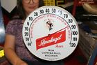 """Rare Vintage 1960's Leinenkugel Beer 12"""" Metal & Glass Thermometer Gas Oil Sign"""