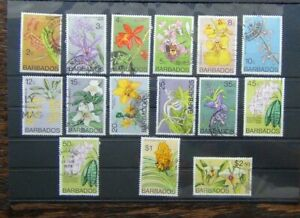 Barbados 1974 Orchid Values to $2.50 Used