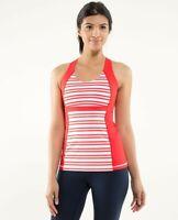 Lululemon run: fast track tank twin stripe red Size  8