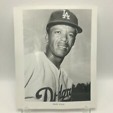 "MAURY WILLS - Los Angeles Dodgers Baseball - 8"" x 10"" Black & White Photograph"