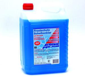 Scheibenfrostschutz ALPINE Frostschutz Scheibenklar bis -30C° 5Liter M7506