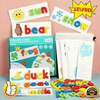 Cardboard English Spelling Alphabet Game Educational Education Early Toys