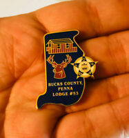 Bucks County Police FOP Lodge 53 Pennsylvania Lapel Pin