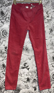 Girls Age 9-10 Years - Pink Skinny Cord Jeggings
