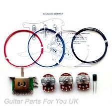 250k Stratocaster Kit de cableado completo tamaño ollas 0.022uf St Actualización Kit de Cableado Nuevo
