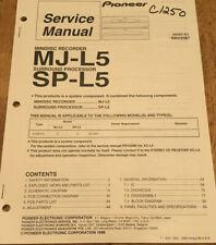 PIONEER MJ-L5 MINIDISC RECORDER SP-L5 SURROUND ORIGNAL SERVICE REPAIR MANUAL