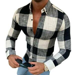 Men's Long Sleeve T-Shirt Casual Shirts Slim Fit Comfy Breathable Blouse Top Hot
