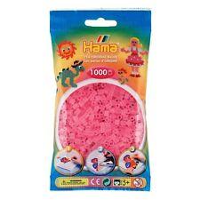 Hama - 207-72 -Sachet 1000 Perles à repasser Rose transparent