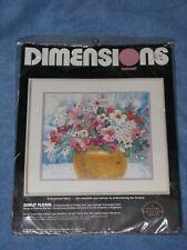 New listing Vtg. 1988 Dimensions Sunlit Floral Crewel Embroidery Kit #1351 Dawna Barton