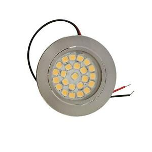 LED 12V Spot Light Touch Switch Dimmable Caravan Boat Recessed Downlight 3000k