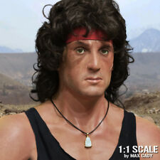 Screen Accurate RAMBO Jade Buddha Pendant choker necklace, Sylvester Stallone