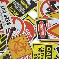 10/50PCS Warning Stickers Signs Waterproof CarLaptop Snowboard Decal Sticker