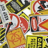 Banning Signs Red/Black Stickers Snowboard Luggage Car Laptop Warning Stickers
