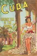 Metal Sign Travel Poster Cuba Holiday Isle Tropics Late 1940S A4 12X8 Aluminium