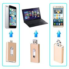 3 en 1 Memory U Stick Flash Pen Drive Almacenamiento USB para Android/IOS iPhone