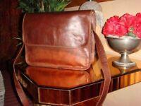 "Vintage Mens Genuine Pure Leather Laptop Bag Messanger Bag for Up to 11"" Laptop"