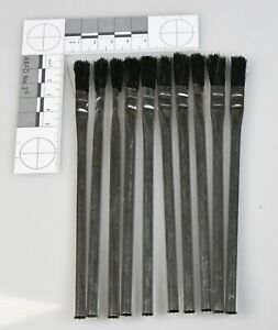 """Ram-Pro Pack of 10 off 3/8"""" Flexible Horsehair Bristle Disposable Brushes"""