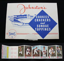 1955 Johnston Cookies Series One Folder with Hank Aaron -- MINT to  GEM MINT