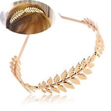 Metal Gold Leaves Hair Head Hoop Band Headband Hairband for Girls Women