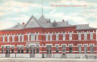 Indiana In Postcard c1910 LOGANSPORT Pan Handle Railroad DEPOT Station