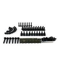 Schrauben Kit Verkleidung Fairing Spike Bolts für Suzuki GSXR 600 750 1000 Black