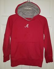 ALABAMA CRIMSON TIDE red Cotton logo Hoodie Pullover Sweatshirt.  Youth L