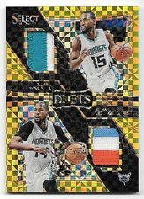 16/17 Select Prizms Gold Kemba Walker & Michael Kidd-Gilchrist Dual Patch #06/10
