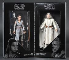 2017 SDCC Star Wars Last Jedi Black Series Luke Skywalker & Rey Comic Con