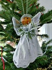 CUTE VINTAGE ANGEL / FAIRY CHRISTMAS TREE TOPPER / HANGER DECORATION SILVER