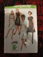 60s Vintage Jiffy Day Dress A-line Sewing Pattern Simplicity Dress Bust 34