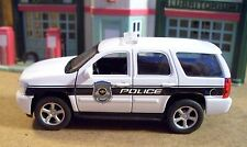 New  Welly Approximately 1/43 Scale White Chevrolet Tahoe Police Unit