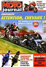 MOTO JOURNAL 1684 MV AGUSTA 910 Brutale BMW K1200 R YAMAHA R6 SUZULI GSX-R 600